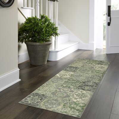 Marshawn Green Area Rug Rug Size: Runner 2 x 6