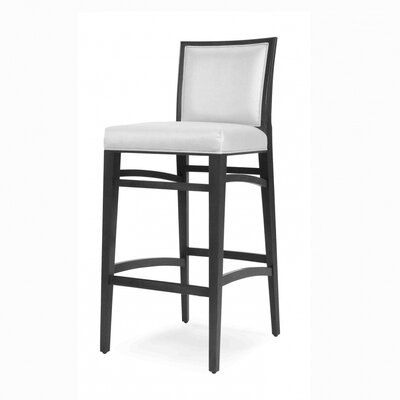Baylee 43 Barstool with Cushion Finish: Montana Walnut, Upholstery: Gravel