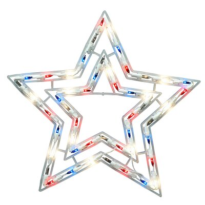 50 Light Shimmering Patriotic Star Light X6404R11