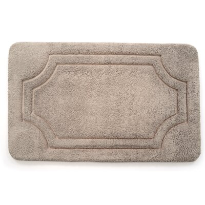 Luxurious Memory Foam Bath Mat Color: Atmosphere Taupe, Size: 17 W x 24 L