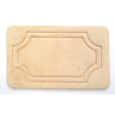 Luxurious Memory Foam Bath Mat Color: Biscotti Beige, Size: 17 W x 24 L