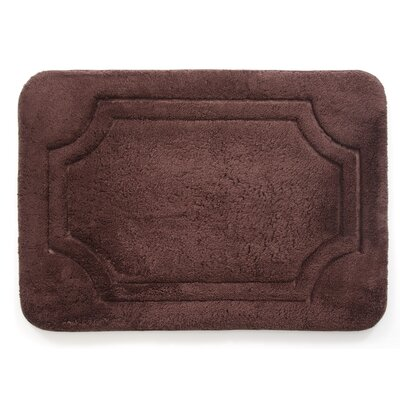 Luxurious Memory Foam Bath Mat Color: French Roast, Size: 21 W x 34 L