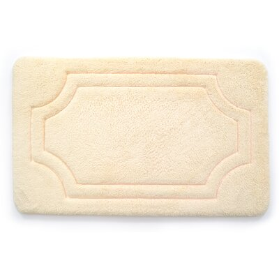Luxurious Memory Foam Bath Mat Color: Antique White, Size: 21 W x 34 L