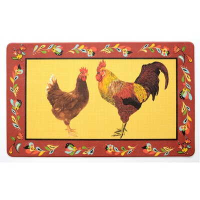 Red Rooster Kitchen Mat