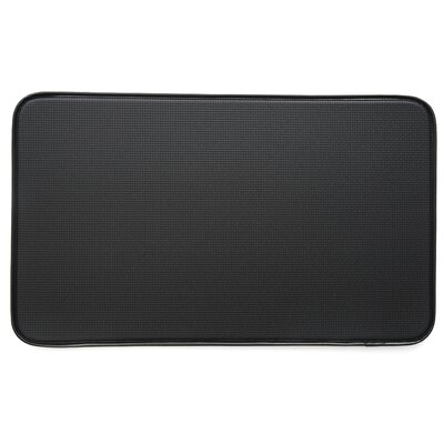 Diamond Kitchen Mat Color: Black