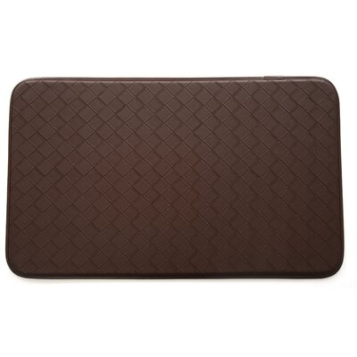 Diamond Kitchen Mat Color: Brown