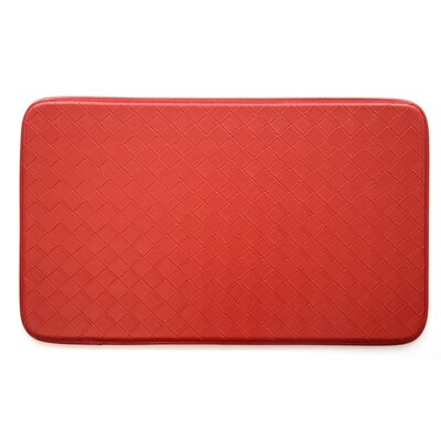Diamond cCmfort Kitchen Mat Color: Red