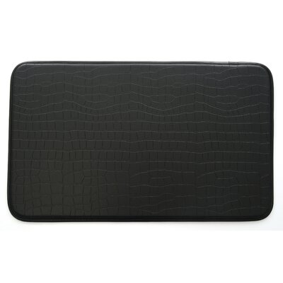 Crocodile Kitchen Mat Color: Black