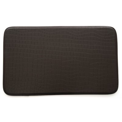 Crocodile Kitchen Mat Color: Dark Brown