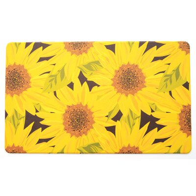 Guliana Sunflower Anti-Fatigue Kitchen Mat