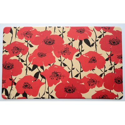 Isiah Poppy Fields Anti-Fatigue Kitchen Mat