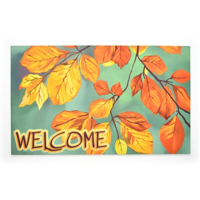 Last Leaves Crumb Rubber Doormat