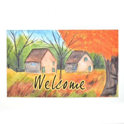 Country Autumn Crumb Rubber Doormat