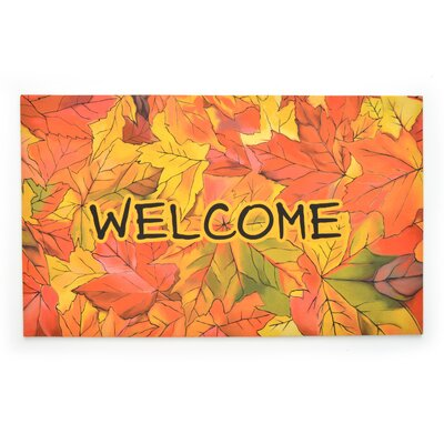 Welcome to Fall Crumb Rubber Doormat