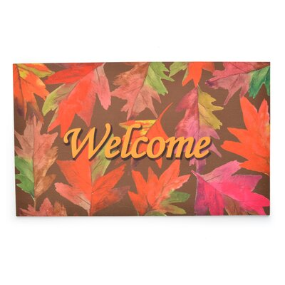 Welcome Leaves Crumb Rubber Doormat