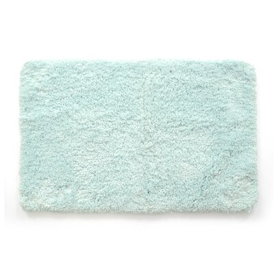 Laure Ultra Plush Shaggy Bath Rug Color: Aqua