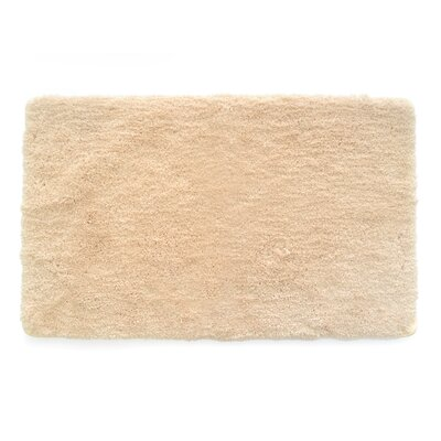 Laure Ultra Plush Shaggy Bath Rug Color: Cream