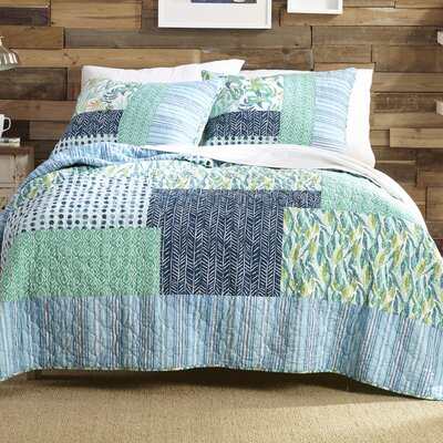 Native Springs 100% Cotton Reversible Quilt Set Size: King