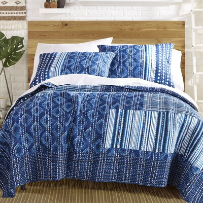 Avisa 100% Cotton Reversible Quilt Set Size: Queen