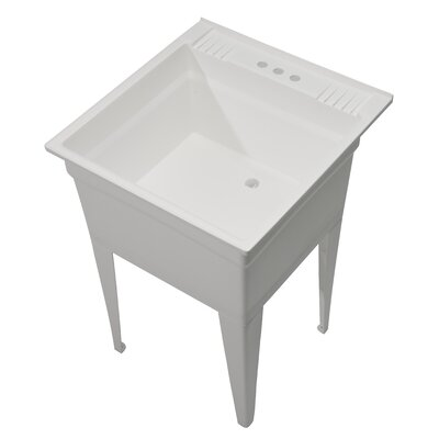 Essential 23.75 x 24.75 Single Free Standing Laundry Sink Sink Finish: White
