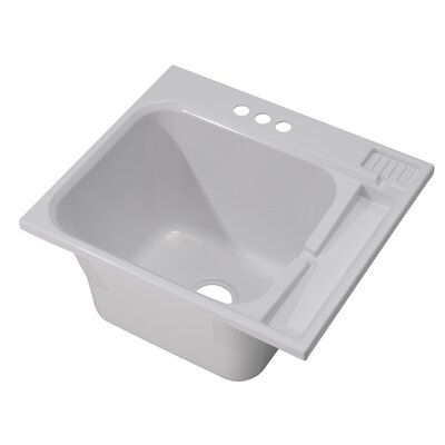 25 x 22 Single Drop-in Laundry Sink