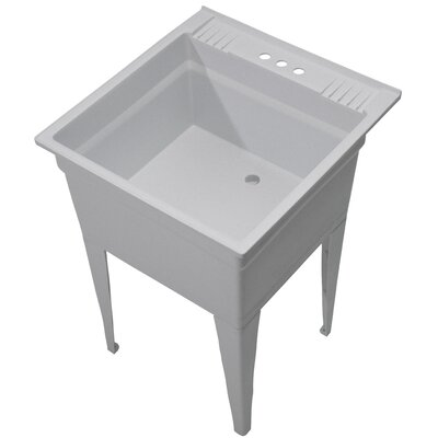 Essential 23.75 x 24.75 Single Free Standing Laundry Sink Sink Finish: Granite