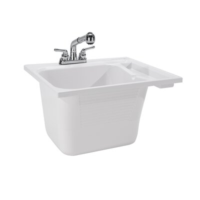 25 x 22 Drop-In Laundry Utility Sink with Faucet
