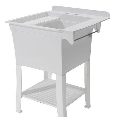 Maddox Workstation 25.4 x 25.8 Free Standing Laundry Utility Sink