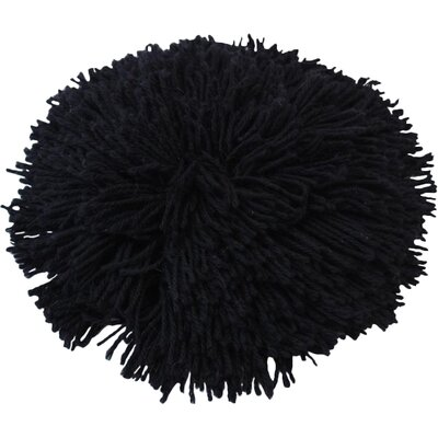 Alpaca Fringe Throw Pillow Color: Black