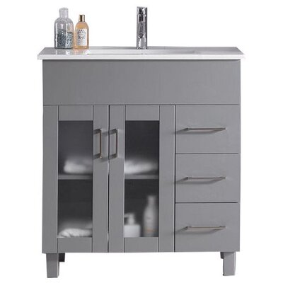 Nova 32 Single Bathroom Vanity Set Base Finish: Gray