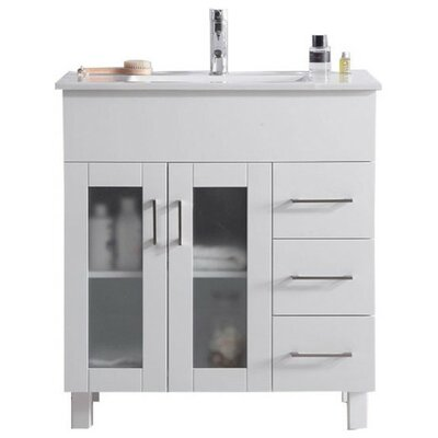 Nova 32 Single Bathroom Vanity Set Base Finish: White