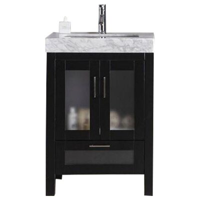 Rushmore 24 Single Bathroom Vanity Set Base Finish: Espresso
