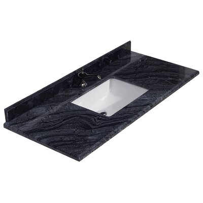"Grazia 49"" Single Bathroom Vanity Top 313AQ9972-48-BW"