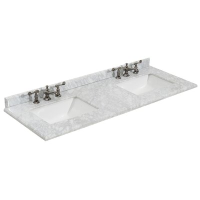 "Grazia 61"" Double Bathroom Vanity Top 313AQ9972-60-WC"