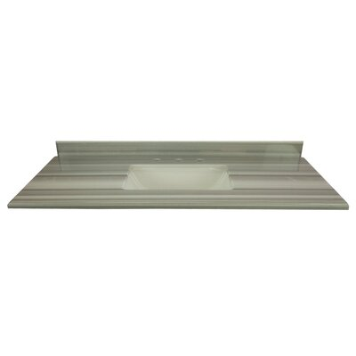 Grazia 49 Single Bathroom Vanity Top Top Finish: Gray/White Stripes
