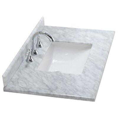 Mediterraneo 36 Single Bathroom Vanity Top Top Finish: White Carrera