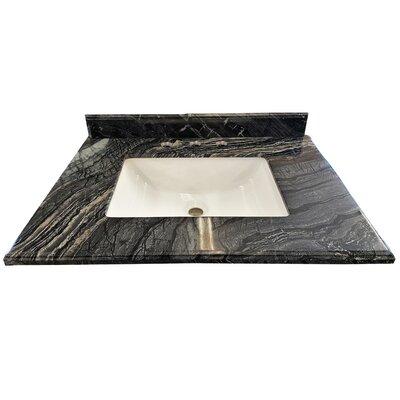 Mediterraneo 36 Single Bathroom Vanity Top Top Finish: Black Wood