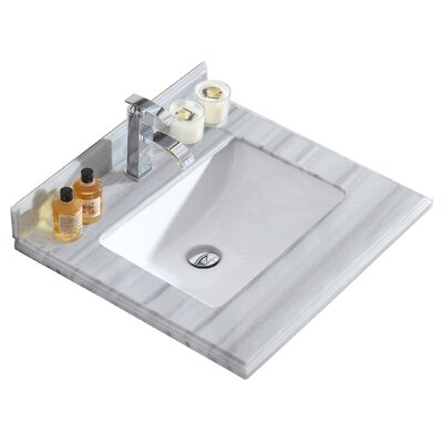 Odyssey 24 Single Bathroom Vanity Top Top Finish: Gray/White Stripes