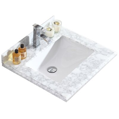 Odyssey 24 Single Bathroom Vanity Top Top Finish: White Carrera