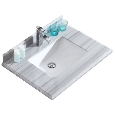 Odyssey 30 Single Bathroom Vanity Top Top Finish: Gray/White Stripes