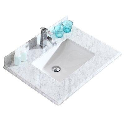 Odyssey 30 Single Bathroom Vanity Top Top Finish: White Carrera