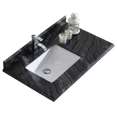 Odyssey 36 Single Bathroom Vanity Top Top Finish: Black Wood