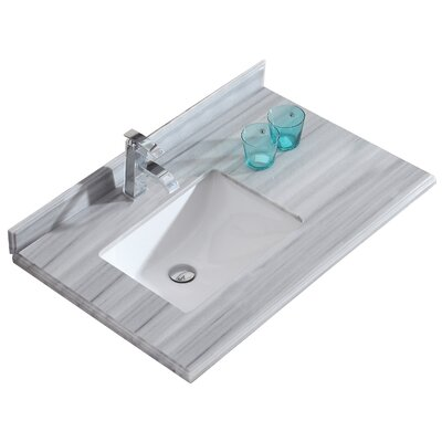 Odyssey 36 Single Bathroom Vanity Top Top Finish: Gray/White Stripes