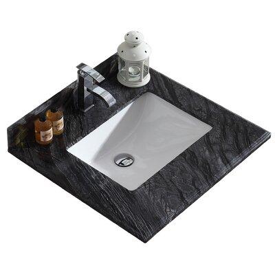 Odyssey 24 Single Bathroom Vanity Top Top Finish: Black Wood