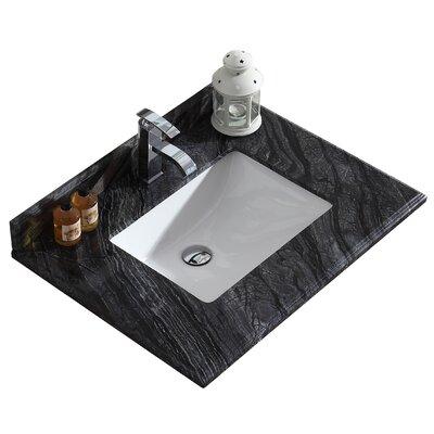 Odyssey 30 Single Bathroom Vanity Top Top Finish: Black Wood