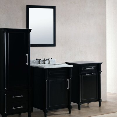 Continental 24 Single Bathroom Vanity Set with Mirror Base Finish: Espresso