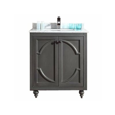 Odyssey 30 Single Bathroom Vanity Set Base Finish: Maple Gray, Top Finish: White Stripes