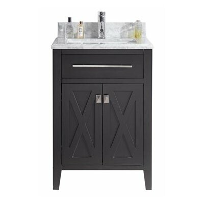 Wimbledon 24 Single Bathroom Vanity Set Base Finish: Espresso