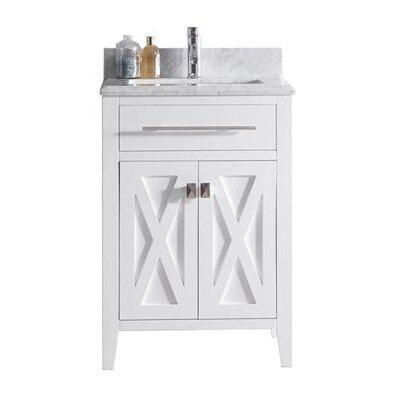 Wimbledon 24 Single Bathroom Vanity Set Base Finish: White