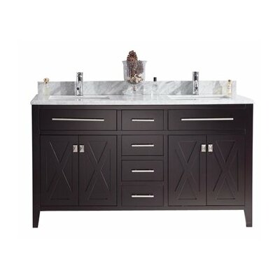 Wimbledon 60 Double Bathroom Vanity Set Base Finish: Espresso